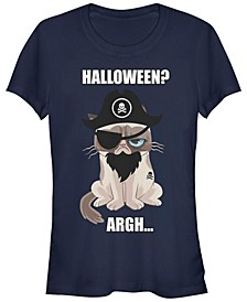 Grumpy Cat Women's Halloween Argh Pirate Costume Short Sleeve Tee Shirt