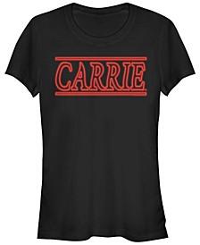 Carrie Women's Retro Style Logo Short Sleeve Tee Shirt