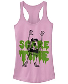 Disney Pixar Women's Monsters Inc. Mike Scare Time Racerback Tank Top