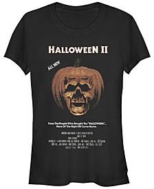 Halloween 2 Women's Pumpkin Movie Poster Short Sleeve Tee Shirt