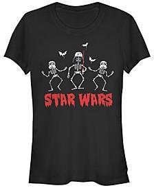 Star Wars Women's Vader Troopers Bats and Skeletons Short Sleeve Tee Shirt