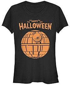 Star Wars Women's Death Star Happy Halloween Short Sleeve Tee Shirt