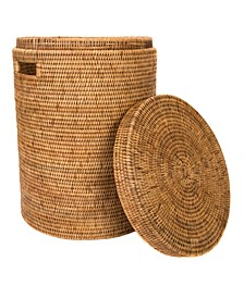 Rattan Round Hamper with Lid