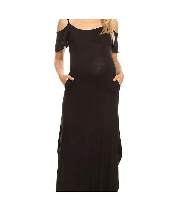 White Mark Plus Size Maternity Lexi Maxi Dress
