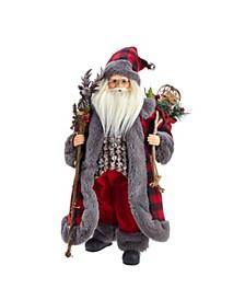 18-Inch Kringle Klaus Red and Gray Santa