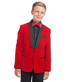 Calvin Klein Big Boys Classic-Fit Velvet Shawl Lapel Suit Jacket