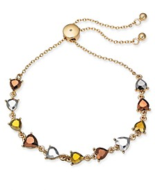 INC Gold-Tone Stone Heart Slider Bracelet, Created For Macy's