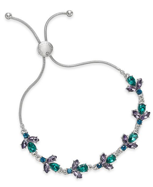 Charter Club Silver-Tone Stone Slider Bracelet, Created For Macy's