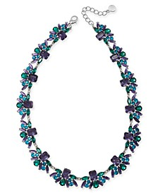 "Silver-Tone Stone All-Around Collar Necklace, 17"" + 2"" extender, Created For Macy's"