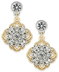 Two-Tone Crystal Palazzo Drop Earrings, Created for Macy's