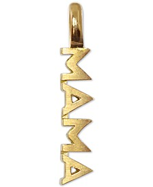 Mini Mama Charm Pendant in 14k Gold