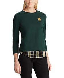 Layered Jersey Sweatshirt