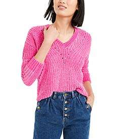 Chenille V-Neck Sweater, Created For Macy's