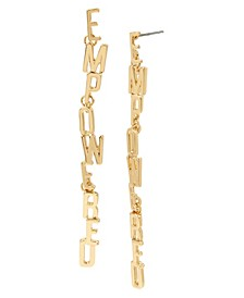 Gold EMPOWERED Affirmation Link Linear Earrings