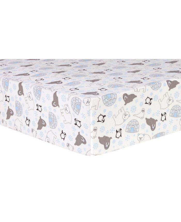 Trend Lab - Igloo Friends Flannel Crib Sheet