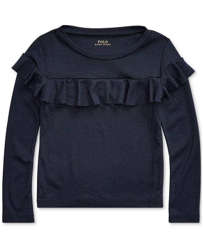 Polo Ralph Lauren Toddler Girls Ruffled Cotton-Modal Top
