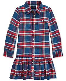 Little Girls Plaid Cotton Twill Dress