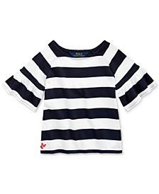 Toddler Girls Ruffled Cotton Jersey Top