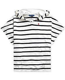 Big Girls Striped Cotton-Blend-Terry Cover-Up