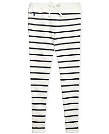 Toddler Girls Striped Cotton-Blend-Terry Pants