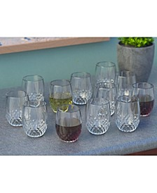 Cristal D'Arques 10oz Stemless Wine Glass, Set of 12