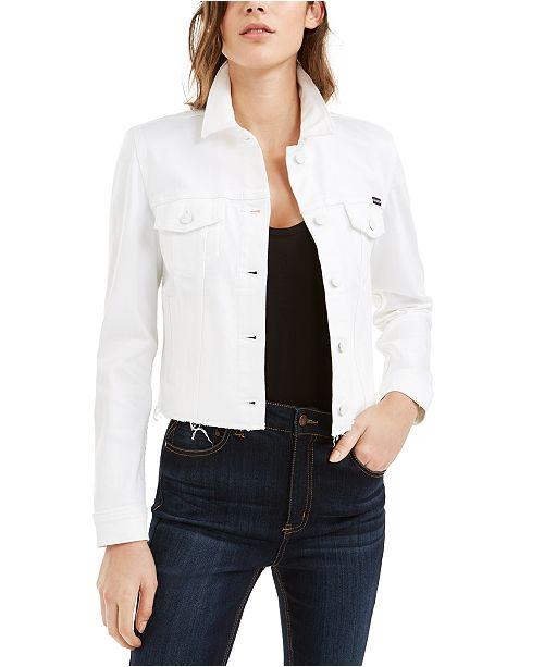 Calvin Klein Jeans White Jean Jacket