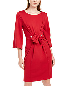 NY Collection Petite Tie-Front Dress