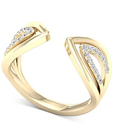 Diamond Chevron Openwork Cuff Ring (1/6 ct. t.w.) in 10k Gold