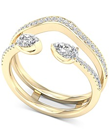 Diamond Pear Enhancer Ring (1/2 ct. t.w.) in 14k Gold