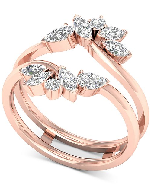 Macy's Diamond Enhancer Ring (3/4 ct. t.w.) in 14k Rose Gold