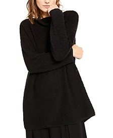 Textured Cowl-Neck Sweater