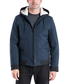 Men's Sheriden Soft Shell Hipster Jacket with Sherpa Hood
