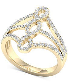 Diamond Multi-Row Openwork Statement Ring (1/2 ct. t.w.) in 10k Gold