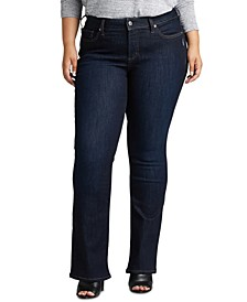 Trendy Plus Size Elyse Slim Bootcut Jeans