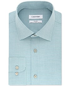 Men's Steel Classic/Regular-Fit Non-Iron Performance Stretch Check Dress Shirt