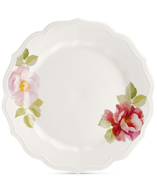 Hotel Collection Classic Wild Rose Dinner Plate, Created For Macy's