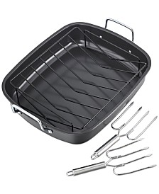 Nonstick Roaster Set with Lifters, Created For Macy's