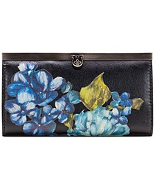 Blue Clay Floral Spot Cauchy Wallet