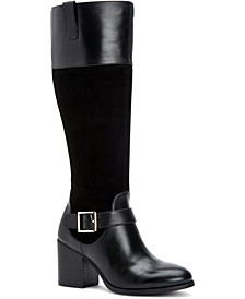 Jessaa Memory Foam Wide-Calf Boots, Created For Macy's