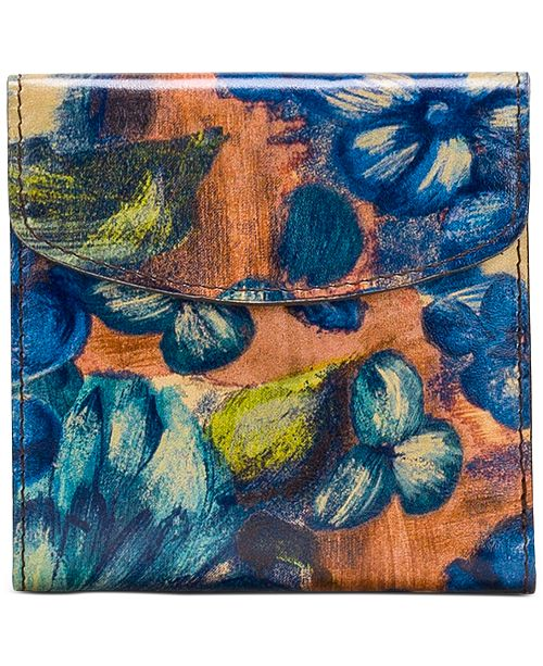 Patricia Nash Blue Clay Rieti Leather Wallet