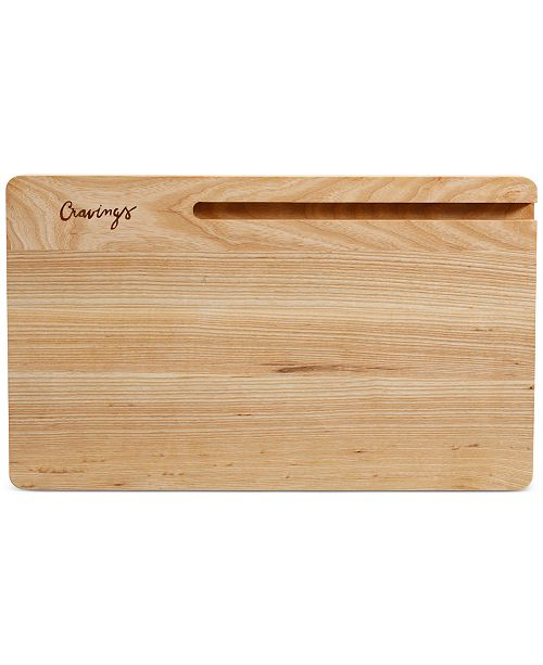 Cravings by Chrissy Teigen Wood Cutting Board with Tablet Stand