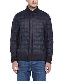 Men's Geometric Quilted Jacket