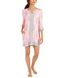 Printed Tunic Sleepshirt Nightgown