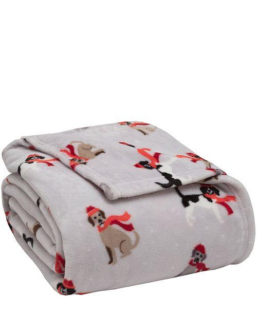 Elite Home Winter Nights Plush Blanket, Full/Queen