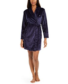 Women's Short Plush Wrap Robe