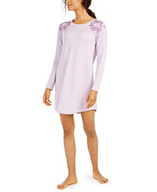 Floral-Embroidered Sleepshirt Nightgown, Created for Macy's