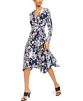 INC Printed Wrap Dress, Created For Macy's