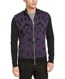 INC ONYX Men's Full-Zip Sweater, Created for Macy's