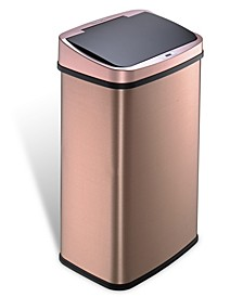 13.2 Gallon Gold-tone Stainless Steel Sensor Trash Can
