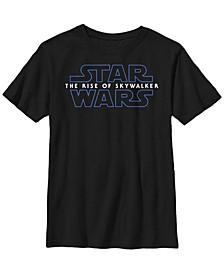 Big Boys The Rise of Skywalker Logo Short Sleeve T-Shirt